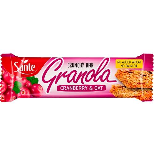 p1sante5348 24x barra de granola de cranberry amp aveia 40g fitness, nutrition