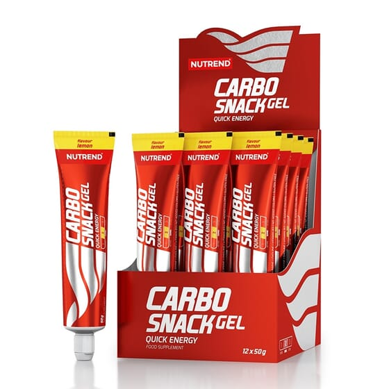 1089190 nutrend carbo snack tubo  12 unidades fitness, nutrition
