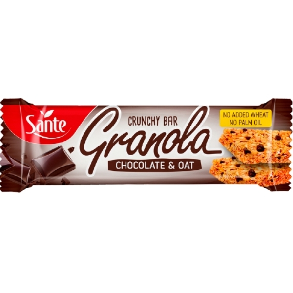 p1sante5347 24x barra de granola com sabor a chocolate amp aveia 40g fitness, nutrition