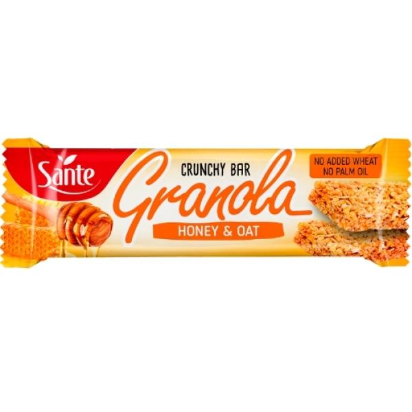 p1sante5349 24x barra de granola mel amp aveia 40g fitness, nutrition
