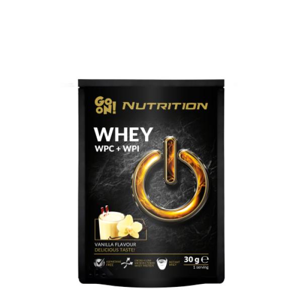 p1sante6777 25x go on nutrition whey baunilha 30g fitness, nutrition